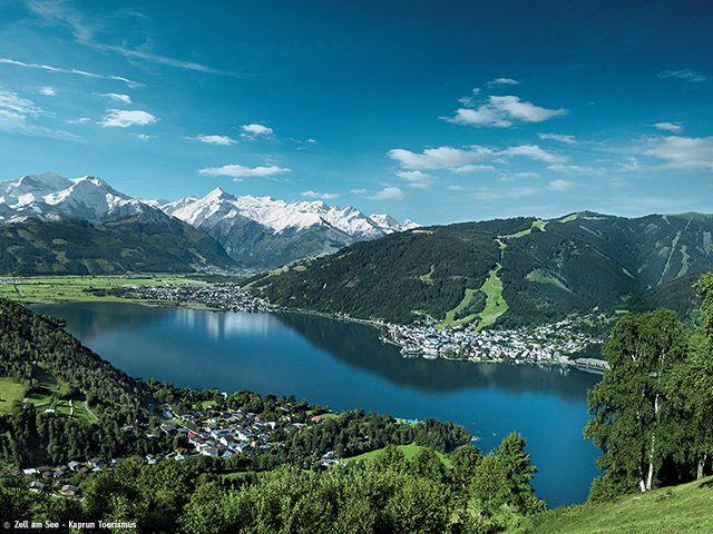 Traumhafter Blick über den Zeller See mit dem Gletscher des Kitzsteinhorn. - Zell  am  See  -  Kaprun Salzburg