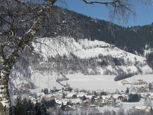Ein verträumter Ausblick auf das winterliche Dorf! - Unternberg Salzburg