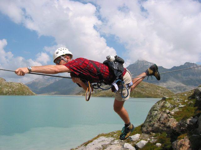 Kristallklettersteig in der Weißsee Gletscherwelt - einer der schwierigsten Klettersteige Österreichs - Uttendorf / Weißsee Salzburg
