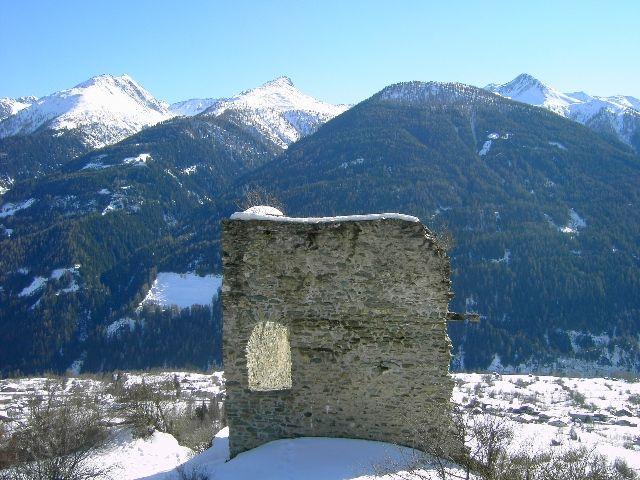 Blick von der Burgruine Rabenstein - Virgen - Virgen in Osttirol Tirol