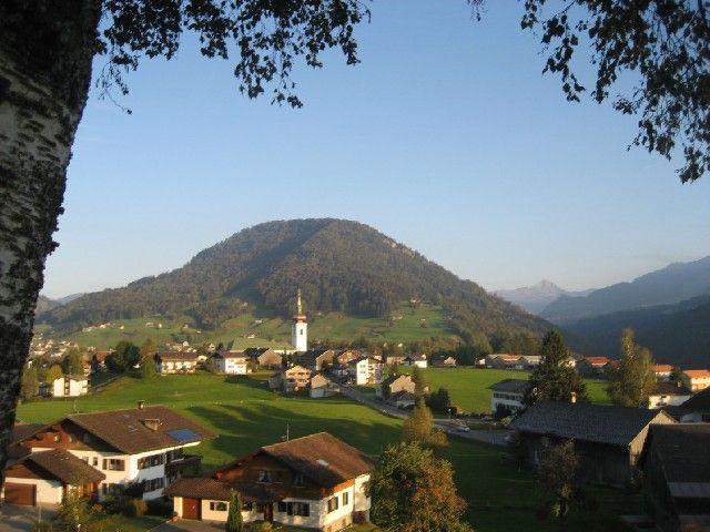 Hittisau von seiner schönsten Seite - mit dem Hittisberg - Hittisau Vorarlberg