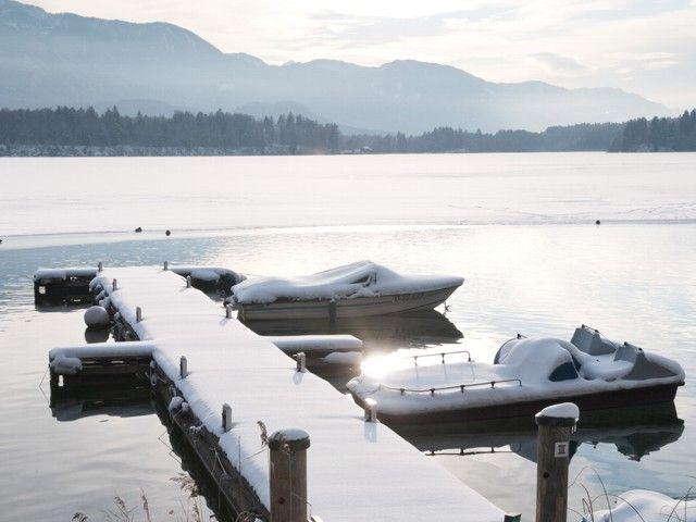 Österreich Kärnten Winterurlaub Faaker See - Lacul Faak Carinthia