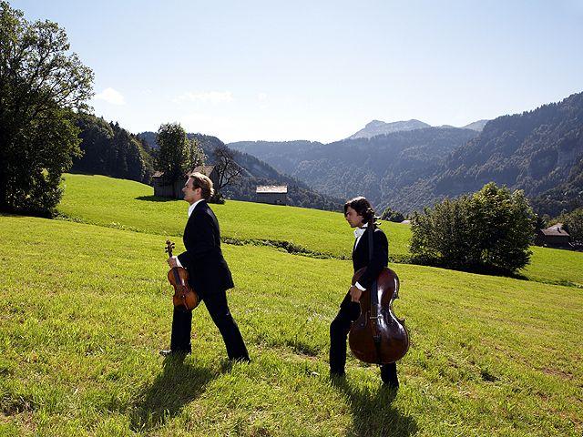 Künstler genießen die Symbiose Natur, Kultur und klassische Musik. - Bregenzerwald Vorarlberg