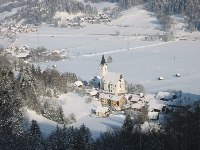 Ortskern Lassing im Winter - Lassing Steiermark
