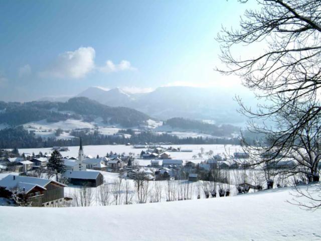 Unser Dorf im Winter - Lingenau Vorarlberg