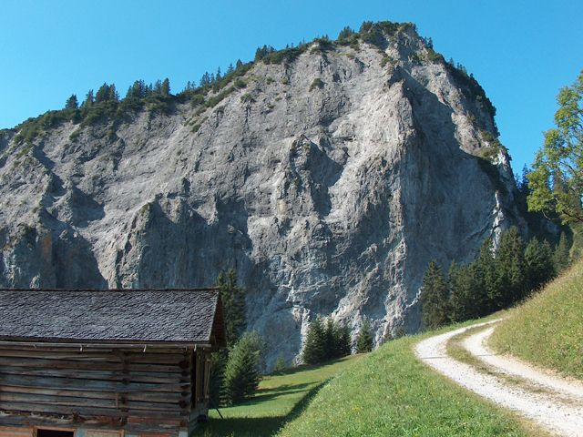 Die Echowand - eine Besonderheit in Steinbild - Sonntag-Buchboden Vorarlberg