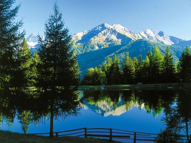 Schnadiger Weiher - der Geheimtipp zum Schwimmen oder Fischen (Tageskarten im Wirtshaus Wiesejaggl erhältlich) - Kaunerberg Tirol