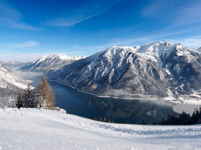 Lake Achensee in winter - Achensee Region Tirol