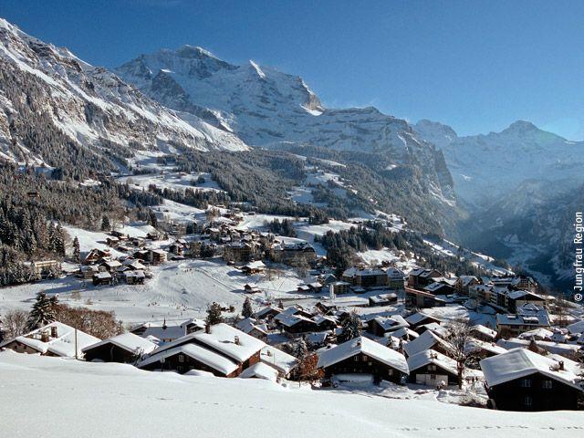 Winterliches Wengen - Wengen Berner Oberland