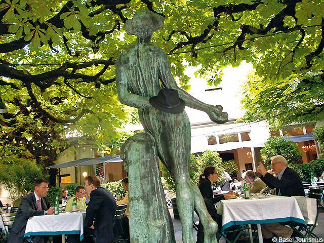 Das Restaurant Kunsthalle, seit Jahren ein beliebter Treffpunkt. - Basel Aargau/Basel