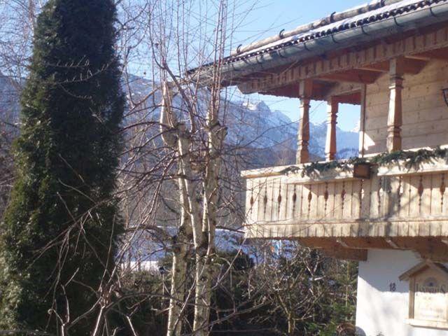 Blick im Winter vom Balkon  --  Wohnung Latschenkopfblick - Arzbacher Landhaus Bad Toelz