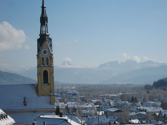 Stadtpfarrkirche Bad Tölz Winter - Bad Toelz Bayern