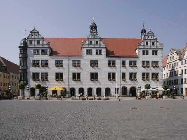 Renaissance - Rathaus Torgau im 16 Jhd. erbaut. - Torgau Sachsen-Anhalt