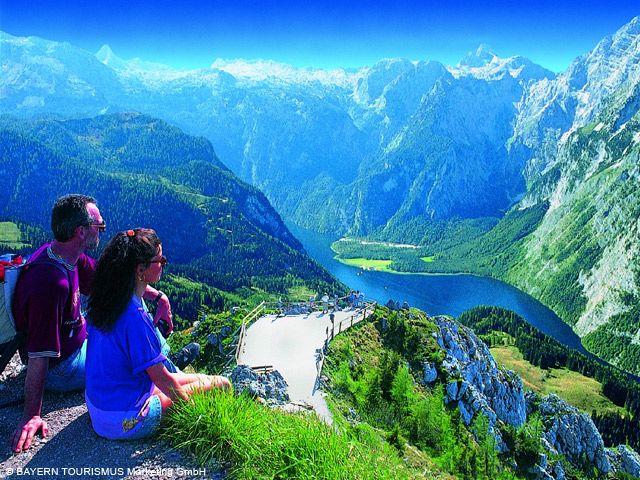 Nationalpark Berchtesgaden: Wanderer am Jenner - Bayern