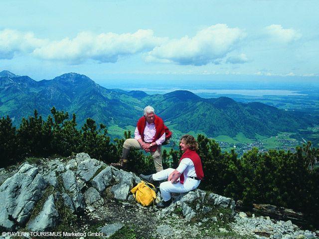 Wanderer in den Alpen - Bayern