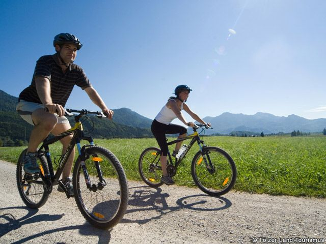 Radfahren im Tölzer Land. - Toelzer Land Bayern