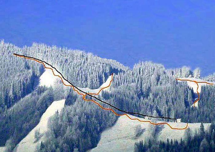 Skilift Glasenberg Panoramic Picture - Large - Teleschiul Glasenberg Maria Neustift