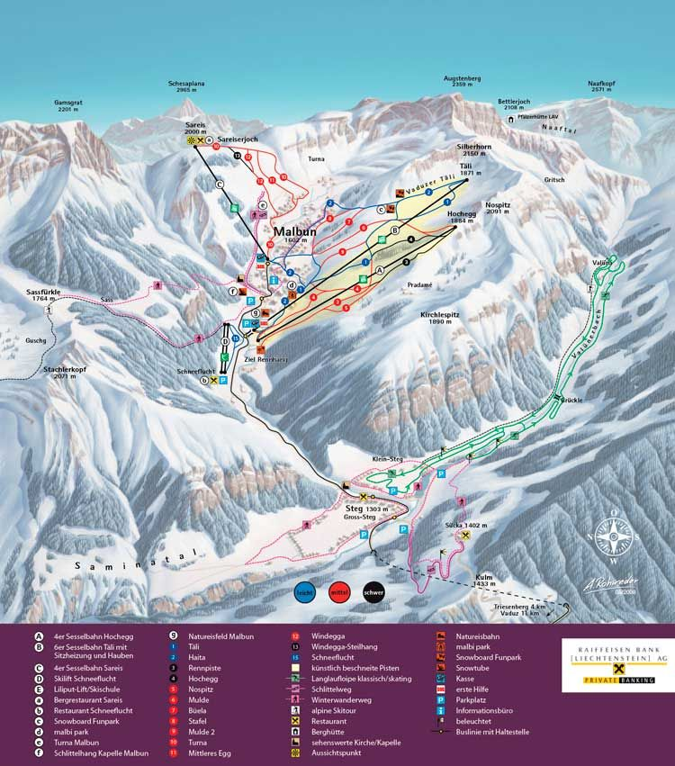 Bergbahnen Malbun Panoramic Picture - Large - Malbun Malbun