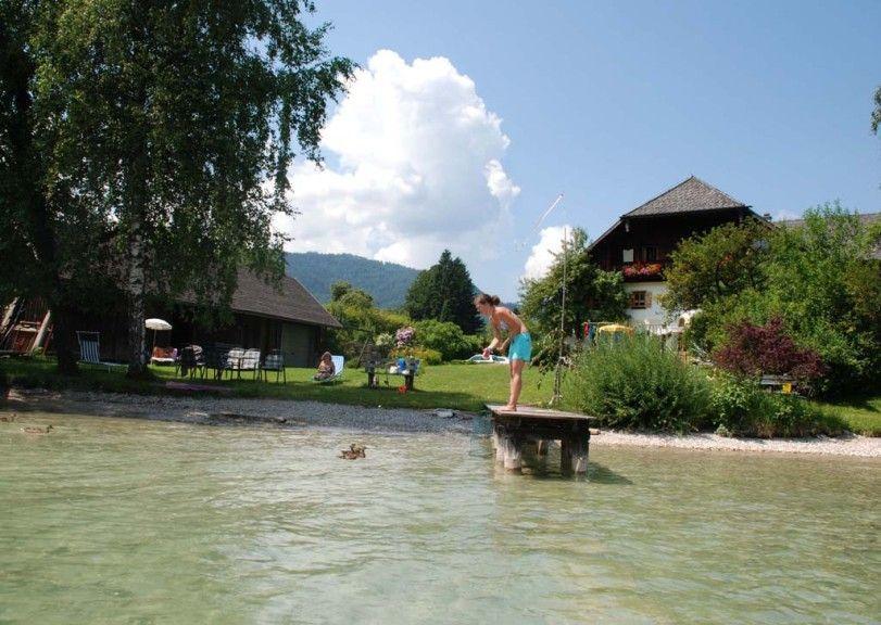 Aussenansicht im Sommer - Am See - Ferienwohnungen Jurlerhof Strobl