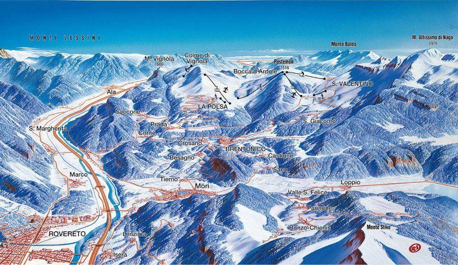 Ski Area Brentonico-Polsa - Polsa  -  San  Valentino