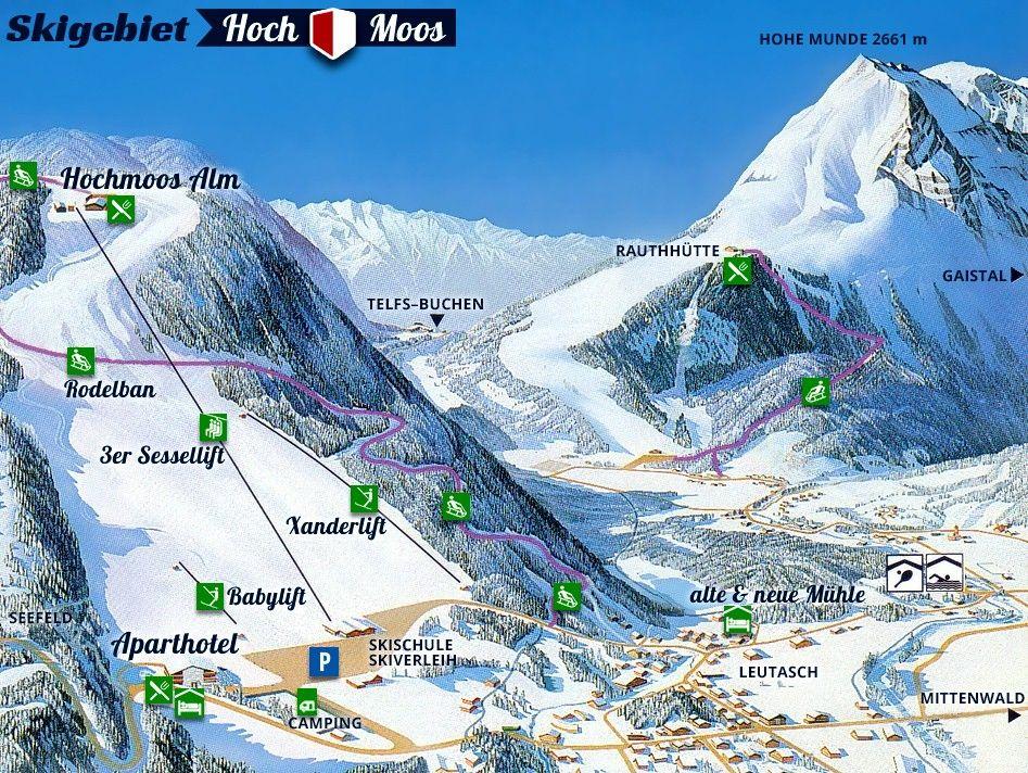 Skigebiet Hochmoos - Bergbahn Leutasch Leutasch