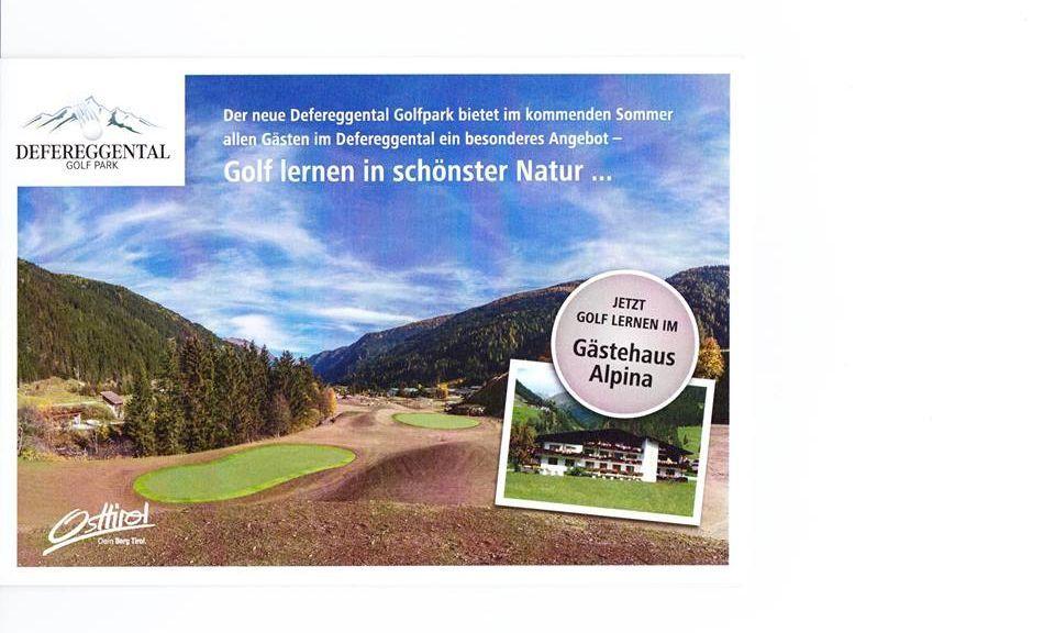 Neu im Gästehaus Alpina!!! Golf lernen ab €388,00 - Jagawirt - Gaestehaus Alpina*** St. Jakob im Defereggental