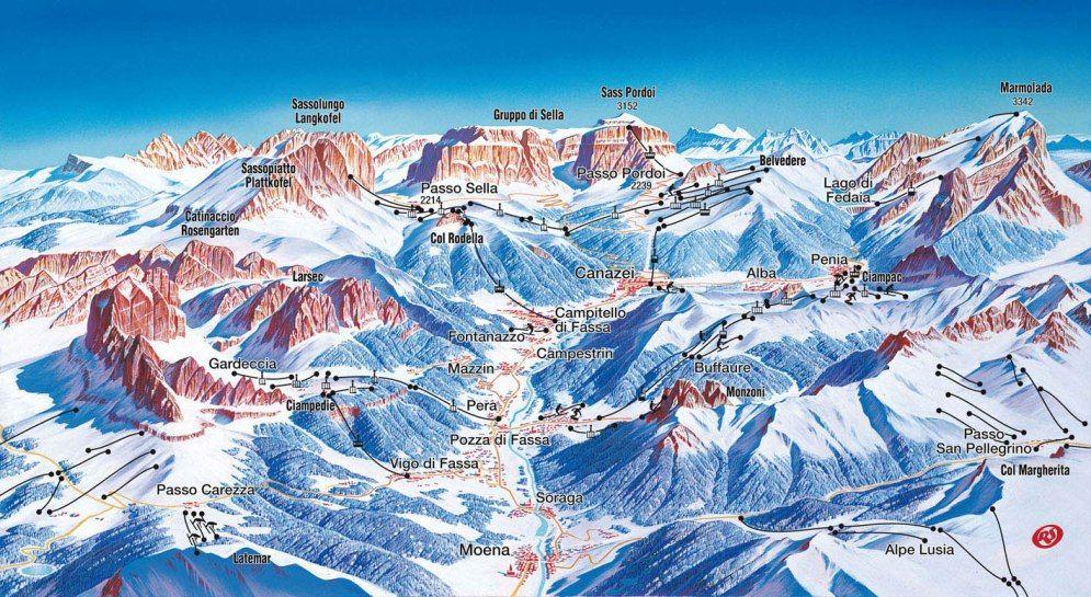 Ski Area Campitello/Mazzin - Col Rodella - Campitello/Mazzin - Col Rodella