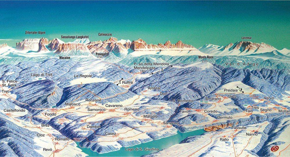 Ski Area Val di Non - Passo  Mendola  -  Prati  di  Golf Passo Mendola