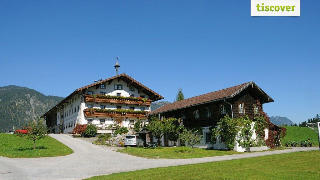View from outside In summer - Riedhof Huette / Ferienhaus Breitenbach