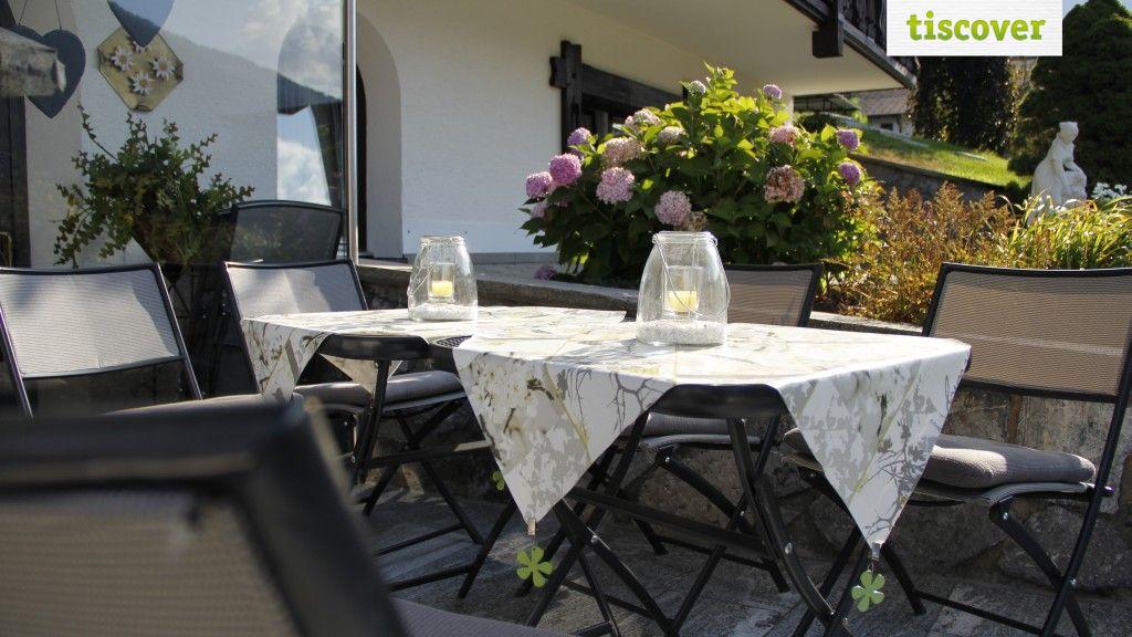 Terrasse im Sommer - Apartment Rotbuehlspitze St. Gallenkirch-Gortipohl