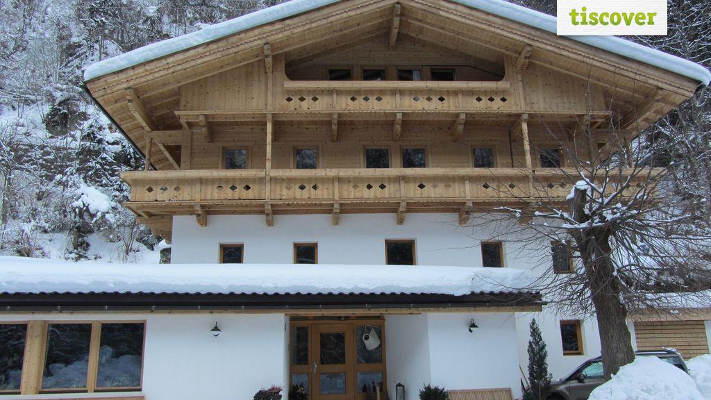 Aussenansicht im Winter, Forellenhof Linde
