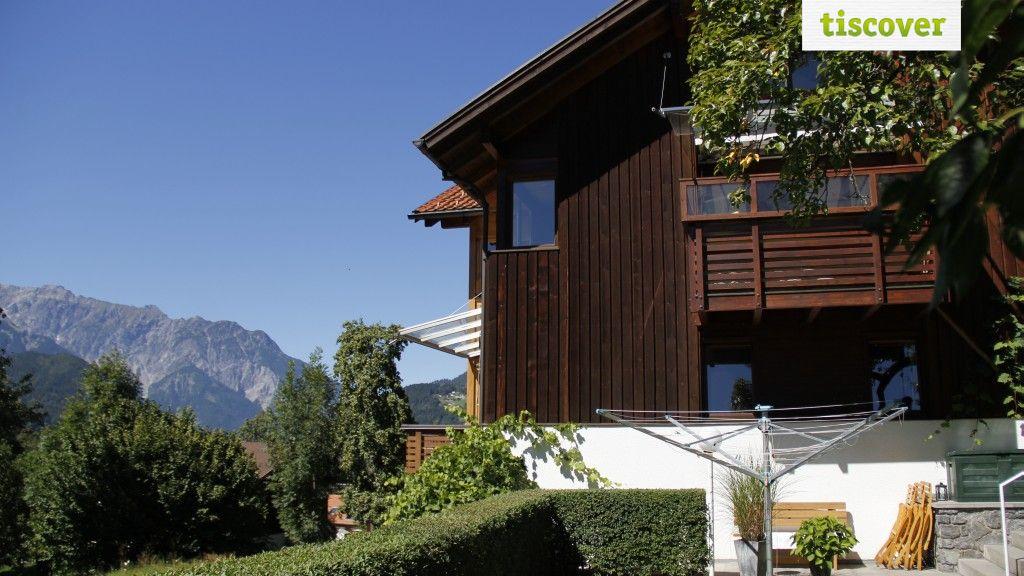 View from outside In summer - Appartements Duengler Schruns/Tschagguns