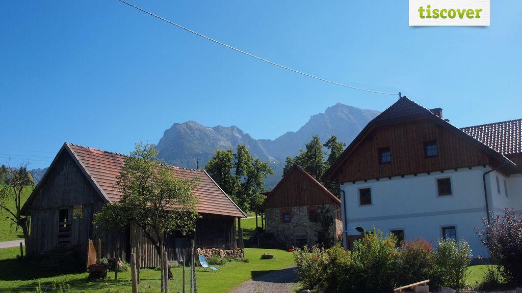 View from outside In summer - Ferienhof Dansbach Spital am Pyhrn