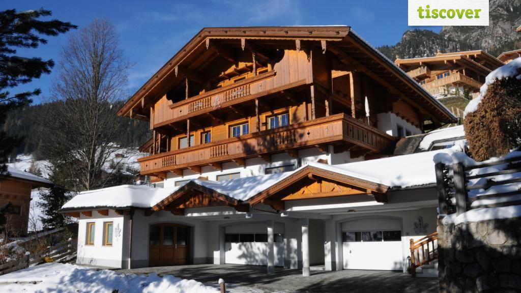 Aussenansicht im Winter - Haus Kristall Alpbach