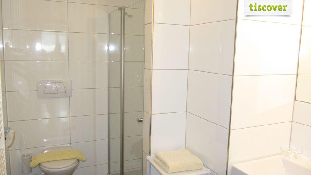 Badezimmer im Winter, Ferienwohnung Appartement 2