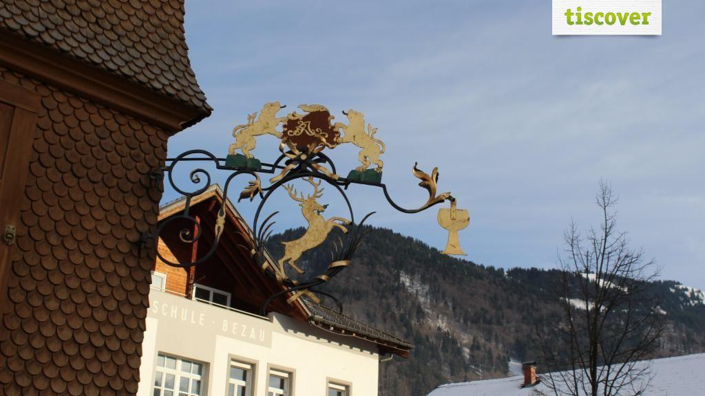 View from outside In winter - Hotel Gasthof Hirschen Bezau Bezau